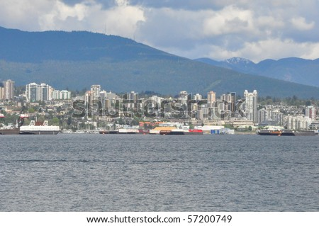 Vancouver Harbor in British Columbia, Canada - stock photo