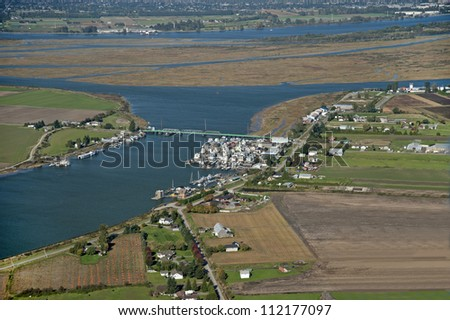Vancouver - Richmond, Fraser River and Westham Island - stock photo