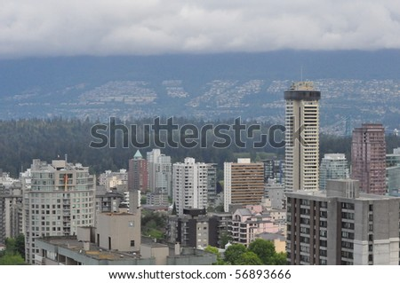 Vancouver Skyline in Canada - stock photo