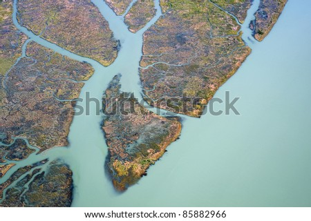 Vancouver - the Fraser River's sediments in Delta in Richmond - stock photo