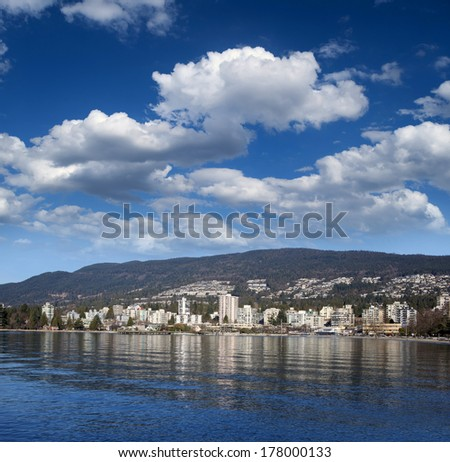Vancouver - West Vancouver and English Bay - stock photo