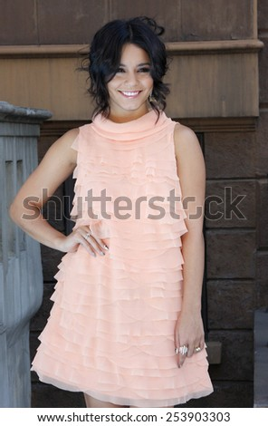 Vanessa Hudgens at the Variety's 6th Annual Power Of Youth held at the Paramount Studios in Los Angeles, California, United States on September 15, 2012. - stock photo
