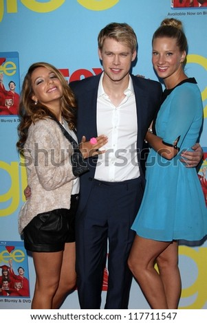 """Vanessa Lengies, Chord Overstreet and Heather Morris at the """"Glee"""" Premiere Screening And Reception, Paramount Studios, Hollywood, CA 09-12-12 - stock photo"""
