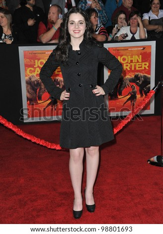 "Vanessa Marano at the world premiere of ""John Carter"" at the Regal Cinemas L.A. Live. February 22, 2012  Los Angeles, CA Picture: Paul Smith / Featureflash - stock photo"