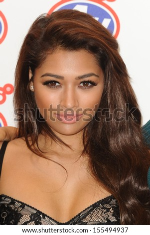 Vanessa White (The Saturdays) launches the new iPhone 5S and 5C at Phones 4U Oxford Street, London. 20/09/2013 - stock photo