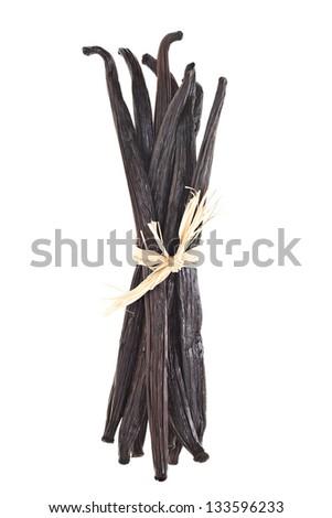 Vanilla Bundle Isolated On White - stock photo