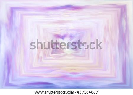 vanilla swirl of clouds watercolor background - stock photo