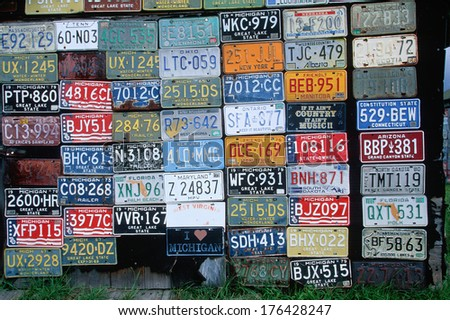 Vanity License Plate - Michigan - stock photo