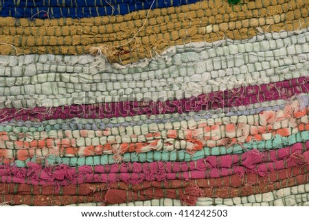 vareity color of woven fabric texture - stock photo