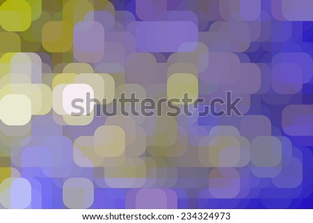 Varicolored abstract illustration of city lights at dusk, with rounded squares overlapping for illusion of three dimensions - stock photo