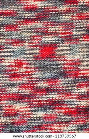 Variegated knit texture - stock photo