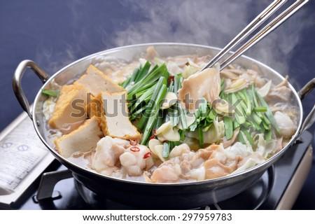 variety meat hot pot, sukiyaki, japanese cuisine-2 - stock photo