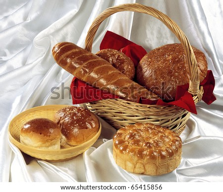 Variety of Breads - stock photo