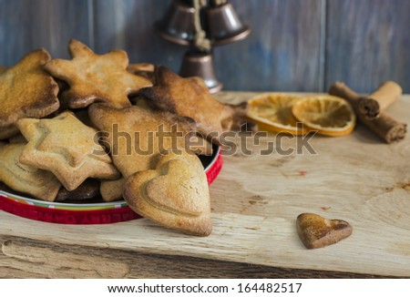 Variety of Christmas cookies - stock photo