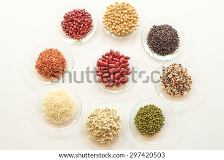 variety  of organic food with healthy concept - stock photo