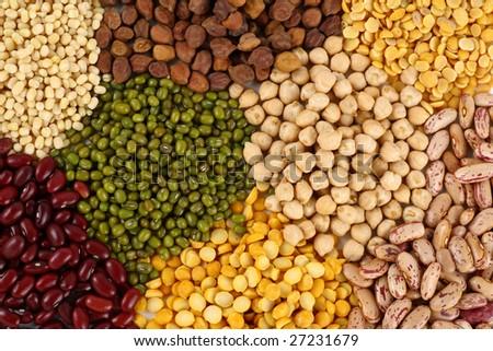 Variety of pulses - stock photo