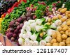 Variety of vegetables at market - stock photo