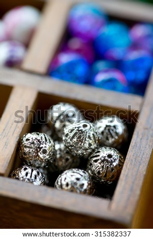 various beads - stock photo