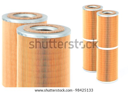 various car filters isolated on white background - stock photo