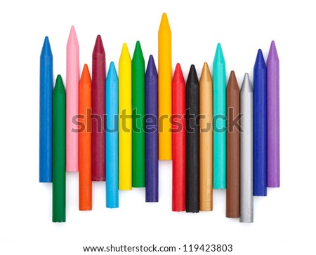 Various color markers. Isolated on white background - stock photo
