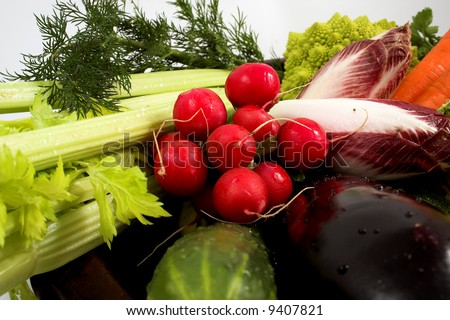Various colorful vegetables - stock photo