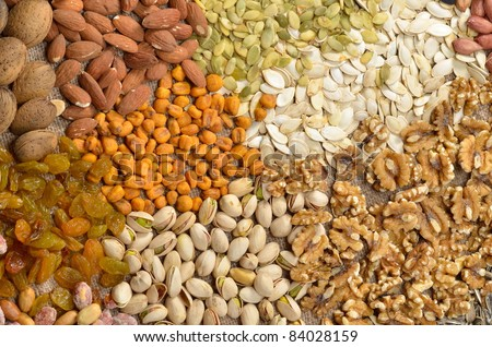 various dried fruits - stock photo
