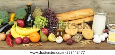 Various foods  - stock photo