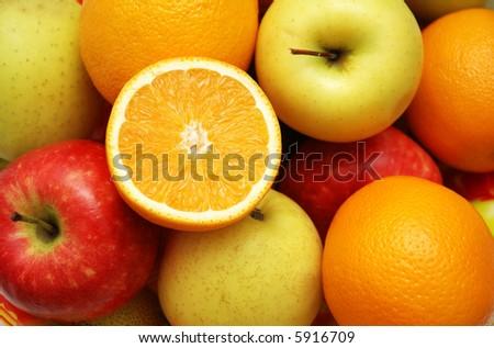 Various fruits - more similar photos in my portfolio - stock photo