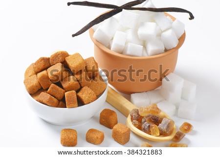 Various kinds of sugar - stock photo