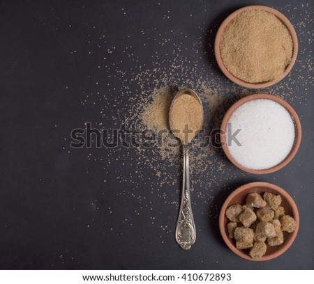 Various kinds of sugar - stock photo
