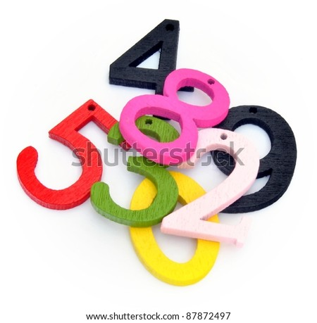 Various numbers of colors - stock photo