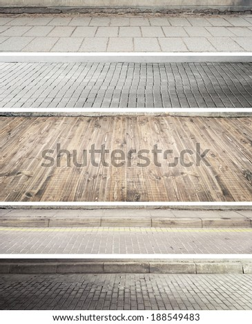 Various paving and floor textures - stock photo