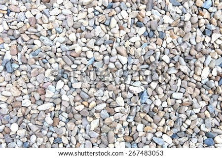 various pebble stones texture - stock photo