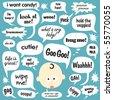 Various phrases in cartoon balloons - stock photo