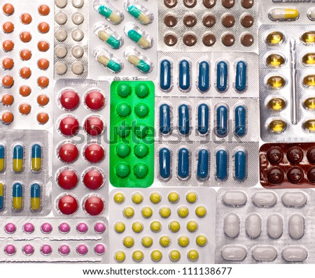 Various pills. Background or texture - stock photo