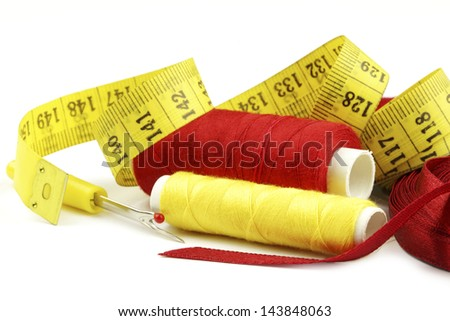Various sewing related items - stock photo