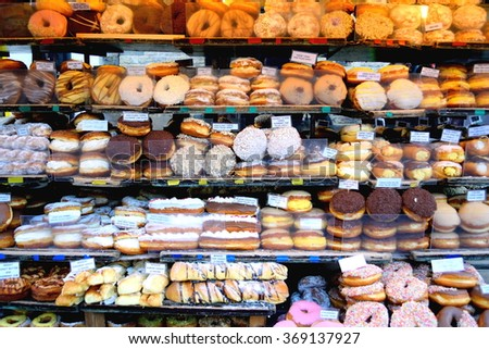 Various sweets in a shop in Camden Town, London - stock photo