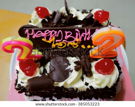 Various types of cake For special people and special occasions - stock photo
