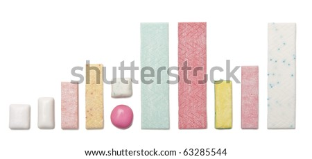 Various types of chewing gum - stock photo