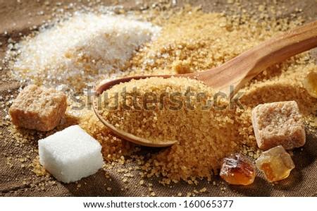 various types of sugar - stock photo