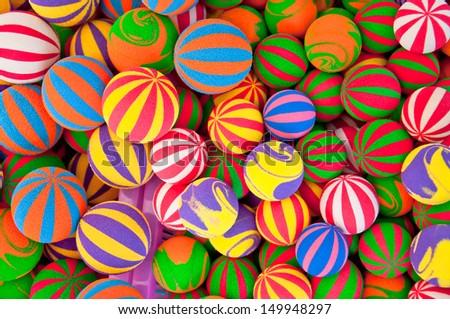 varity color of foam balls  - stock photo