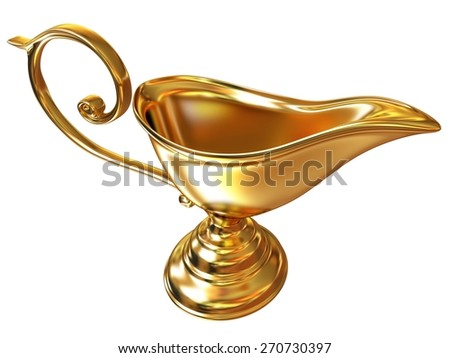 Vase in the eastern style - stock photo