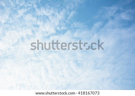 Vast blue sky with amazing clouds background. Shape independent of the Skies, Elements of nature, Beautiful sky with white clouds.    - stock photo