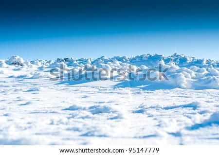 vast snow planes - stock photo