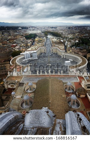 Vatican City, Piazza San Pietro, Rome, Italy - stock photo