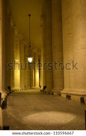 Vatican Columns - stock photo