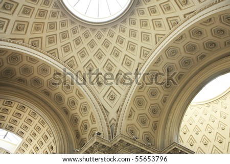 Vatican Museums - ceiling - stock photo