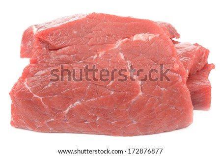 Veal on a white background - stock photo