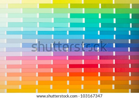 Vector colour card (paper) with various colors - stock photo