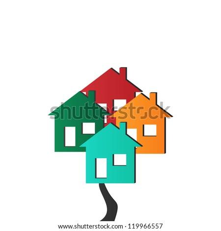 Vector 3D Houses - stock photo